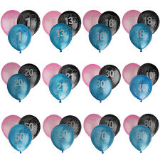 20pcs Birthday Balloon Party Decoration Age 1st 13 18 20 30 40 50 60 70 80th