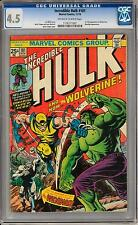 Incredible Hulk #181 CGC 4.5 (OW-W) Origin & 1st Appearance of Wolverine