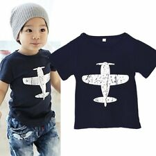 Toddlers Baby T-Shirt Kids Boys Girls Short Sleeved Tees Cotton Tops Shirt 1-6Y