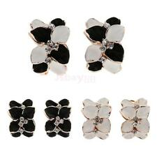 Fashion Jewellery Alloy Retro Leaf Stud Earrings Delicate Auger Flower Earrings