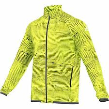 adidas Mens Xa Woven Training Sports Lightweight Jacket Outerwear Top Yellow