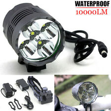 Waterproof 10000Lm 5x CREE XM-L U2 LED Bicycle Light Torch Headlamp + Battery UK