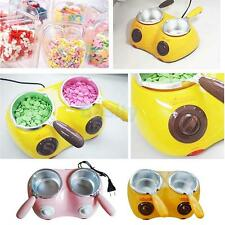 Electric Double Oven Chocolate Cheese Melting Pot Boiler Fondue DIY Heater Set