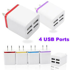 4 Ports US Plug USB Wall Home Travel AC Charger For iPhone for Samsung & Tablets