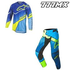 2017 ALPINESTARS TECHSTAR VENOM KIT COMBO BLUE/CYAN/YELLOW MOTOCROSS MX ENDURO
