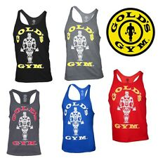 Golds Gym Tank Top Classic Stringer Fitness clothing Bodybuilding Gym Wear NEW