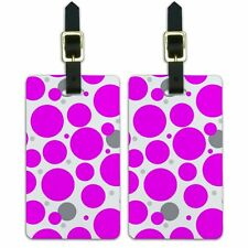 Luggage Suitcase Carry-On ID Tags Set of 2 Solid Color