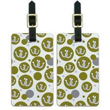 Luggage Suitcase Carry-On ID Tags Set of 2 Horseshoes Crossed