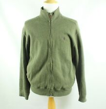 POLO RALPH LAUREN Size L Large Green 1/4 Zip Cotton Pullover Sweater Mock Pony