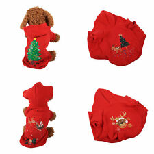 Pet Dog Cat Warm Clothes Puppy Winter Xmas Sweater Costume Jacket Coat Apparel