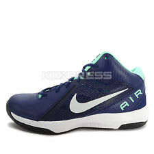 Nike The Air Overplay IX [831572-401] Basketball Navy/Silver-Green
