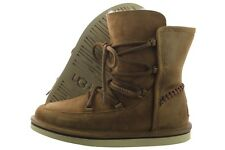 UGG Lodge 1007710-CHE Chestnut Suede Leather Lace Winter Snow Boots Medium Women