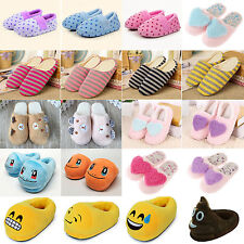 Cute Winter Warm Adult Unisex Kid Cartoon Soft Plush House Slippers Casual Shoes