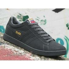 Shoes Gola Equipe CMA495GX207 Man Sneakers Vintage Suede Graphite