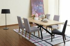 AGAVE RECTANGULAR TIMBER TOP DINING TABLE