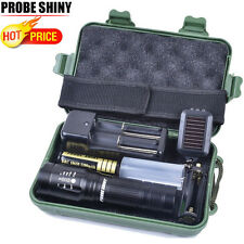 Super Bright X800 Shadowhawk CREE T6 LED Flashlight Torch Light G700 Lamp Set