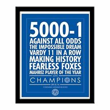 Personalised LEICESTER CITY FC Believe 5000-1 Print in Folder or Frame Licensed