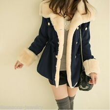 2017 Women's Warm Winter Faux Fur Hooded Parka Coat Overcoat Long Jacket Outwear