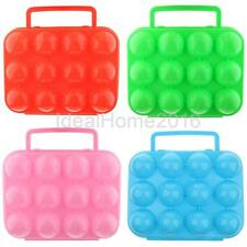 Folding Plastic 12 Eggs Container Holder Storage Carrier Box Case Camping Picnic