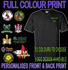 New Gilden Custom Full Colour Printed Personalised Work Wear 185gsm T-Shirts