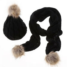 Fashion Winter Women 's Wool Scarf Hat Suit Thickening Warm Comfortable Cap