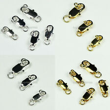 10x5mm,12x6mm,14x7mm 50pcs Silver/Gold Plated Lobster Claw Clasps Wholesale!