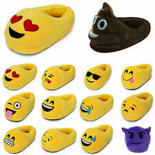 Emoji Plush Stuffed Unisex Cute Slippers Cartoon Winter Warm Shoes Home Indoor
