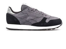REEBOK CLASSIC SUEDE MP BLACK GREY SIZE 3 4 5 6 LEATHER RARE TRAINERS WORKOUT