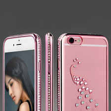 Bling Bling Clear Crystal Diamond Soft TPU Phone Case Cover For iPhone 5 6 Plus