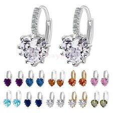 Stud Earings Rhinestone Crystal Heart Shape Drop Dangle Earrings Party Jewelry