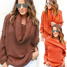 Womens Knitted Sweater Oversized Batwing Sleeve Loose Cardigan Outwear Coat Tops