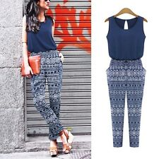 Sexy Women Summer Clubwear Playsuit Party Jumpsuit&Romper Long Trousers Blue