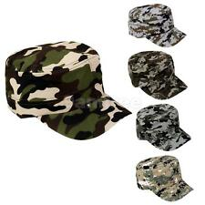 Men Women Army Camouflage Trucker Baseball Cap Hunting Camo Cadet Military Hats