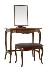 BRITISH MADE. Bronze dressing table set with large stool
