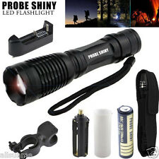 5000LM LED Tactical Zoomable Flashlight Torch Light +18650+ Charger+ Pouch Kits