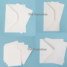 Bright White Postcard Blanks 250gsm & Envelopes, DIY quality