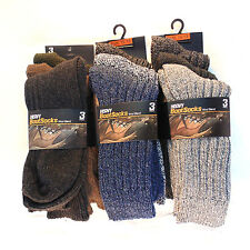 12,6,3 Pairs Lot Of Mens Warm Heavy Wool Blend Boot socks Size 10-13