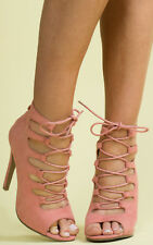 Women's Ladies Faux Suede Strappy Stiletto Party High Heels