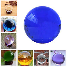 Quartz Clear Magic Crystal Ball Colorful Fancy Sphere Collectibles Decorations