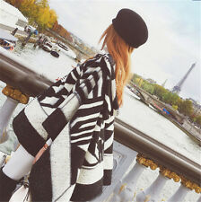 Winter Lady Women Long Style Warm Soft Scarf Geometric Pattern Cape Shawl