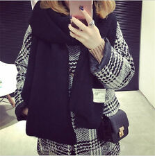 Winter Lady Women Girl Long Style Warm Soft Scarf Solid Color Labeling Big Shawl
