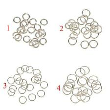 20x Sterling Silver Open Split JUMP RINGS Findings for Jewelry Making 3,4,5,6mm