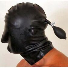 Inflatable Latex Hood with Nose Holes - Rubber Mask Fetish Shiny Kinky Clothing
