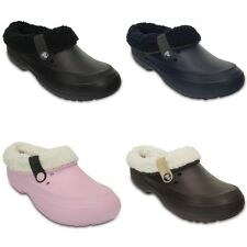 Crocs Blitzen II Fuzz Lined Clogs - Black Blue Pink Brown - Croslite