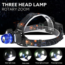 New 15000Lm 3x XML T6 LED Headlamp Rechargeable Headlight 18650 Head Torch Lamp