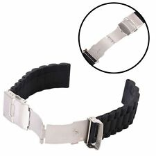 Waterproof Silicone Rubber Wrist Watch Strap Replacement Band Deployment Clasp
