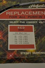 Hofert's Replacement Bulbs 3.5 Volts push-in Midget Set Red Band Clear Multi
