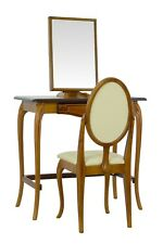 BRITISH MADE. Dressing table set with Chair, in an Antique Oak finish