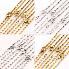 2/10X Silver/Gold/White K Plated Cable Open Link Iron Metal Chain Findings 2x1mm