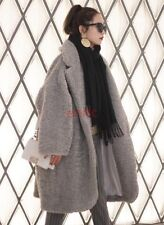 Fashion Wool Thick Winter Warm Long Womens Parka Coat Overcoat Trench Jacket S M